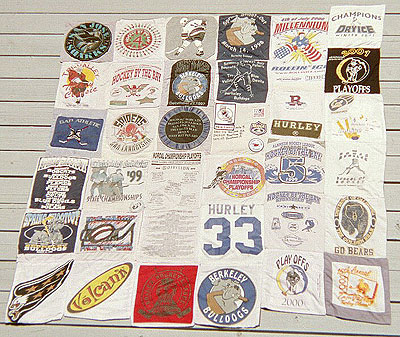 Hockey T-Shirt Quilt