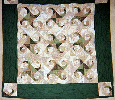 Small green quilt