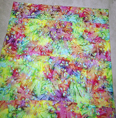 batik butterly quilted blanket