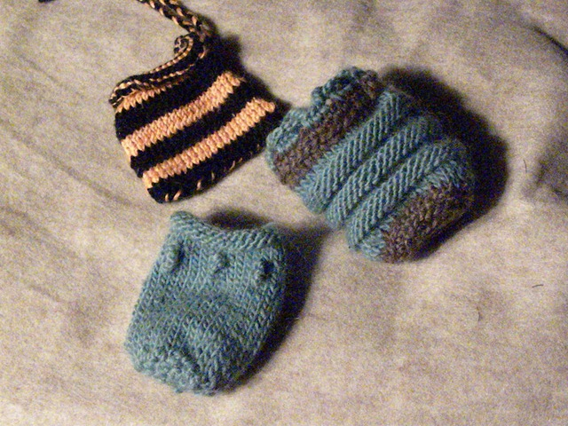 little knitted bags