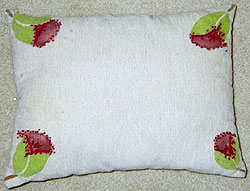 Flower pillow side 2