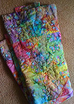 quilted batik butterly blanket