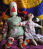 two rag dolls